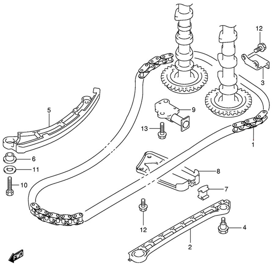 Замена ремня ГРМ лодочного мотора.